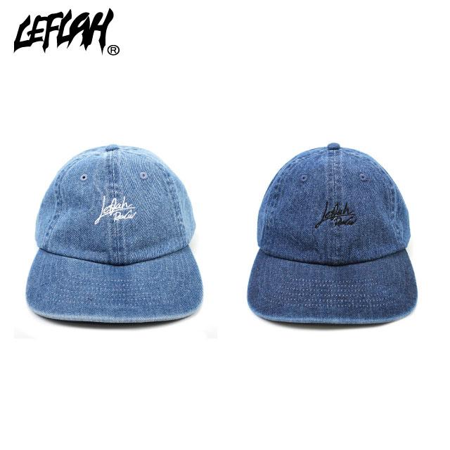 LEFLAH SCLIPT LOGO CAP DENIM レフラー デニム キャップ 帽子