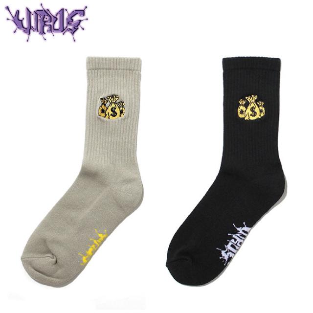 VIRUS WORLD MONEY BAG SOCKS ウイルスワールド ソックス 靴下 (2色展開)