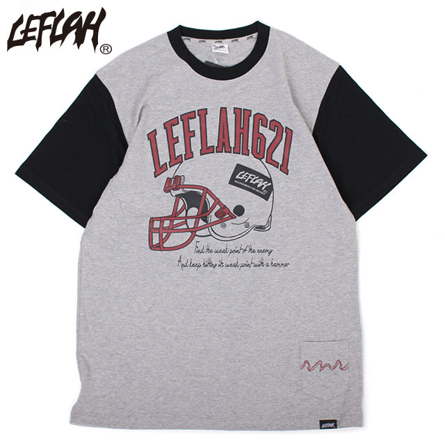LEFLAH AMERICAN FOOTBALL SS TEE レフラー アメフト 半袖 Tシャツ (4色展開)