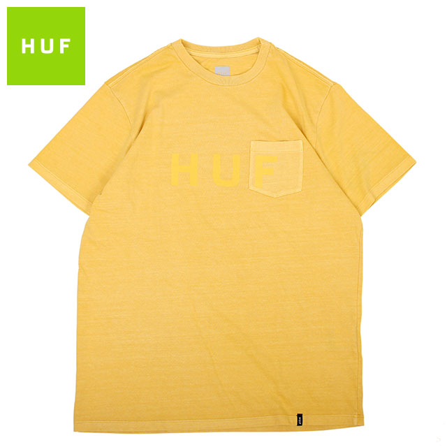 HUF OG LOGO POCKET SS TEE ハフ 半袖 Tシャツ (3色展開)