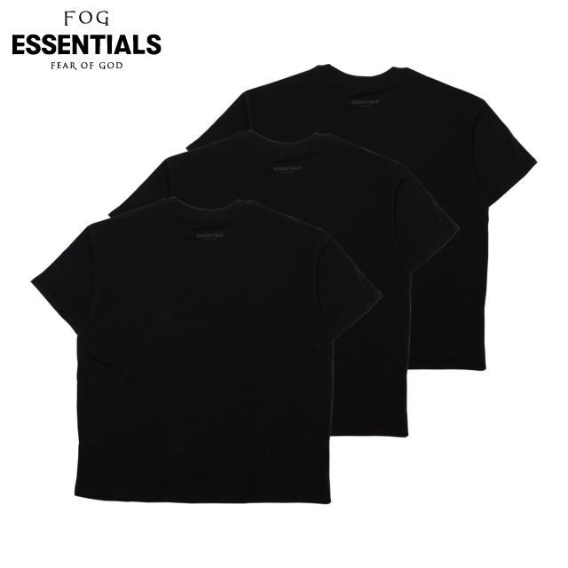 FOG ESSENTIALS 3PACK SS TEES BLACK フィアオブゴッド エッセンシャルズ 半袖 Tシャツ