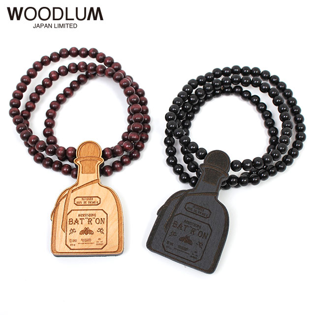 WOODLUM_TEQUILA WOOD NECKLACE_木製ネックレス ウッドチェーン