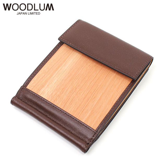 WOODLUM_REAL WOOD CLUB WALLET (NATURAL)_木製 財布 ウォレット マネークリップ