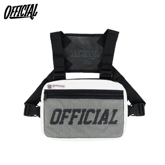 OFFICIAL MELROSE CHEST UTILITY BAG 3M WHITE オフィシャル ブランド リフレクター チェストバッグ