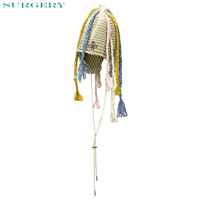 SURGERY CLOVER LOGO BRAIDS BEANIE MULTI サージェリー ビーニー ニットキャップ 帽子