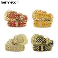 HERMETIC SMILE CRYSTAL DOLLAR BELT ヘルメティックスマイル ベルト (4色展開)