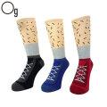 GANAG SOCKS SOX ON THE SHOES ガナジー ソックス 靴下 (3色展開)