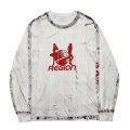 REGION GRUNGE LS TEE リージョン 長袖 Tシャツ (2色展開)