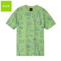 HUF TIJUANA MEMORIES SS TEE ハフ タイダイ 半袖 Tシャツ (2色展開)