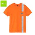 HUF SAFETY POCKET SS TEE ハフ リフレクター 半袖 Tシャツ (2色展開)