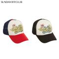 SUNDAY OFF CLUB TORN SADDY BEAR ARTWORK TRUCKER CAP メッシュキャップ 帽子 (2色展開)