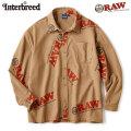 INTERBREED X RAW LOGO TEXTILE WORK LS SHIRTS インターブリード ロウ 長袖 ワークシャツ