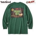 INTERBREED X RAW LOGO TEXTILE LS TEE インターブリード ロウ 長袖 Tシャツ (2色展開)