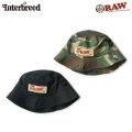 INTERBREED X RAW ROLLERS BUCKET HAT インターブリード ロウ バケットハット 帽子 (2色展開)