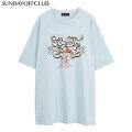 SUNDAY OFF CLUB SMOKE GRAFFITI BADDY RABBIT SS TEE SOC 半袖 Tシャツ (2色展開)