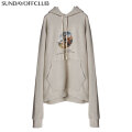 SUNDAY OFF CLUB ARTWORK INSIDE-OUT HEAVY FRENCH TERRY HOODIE サンデーオフクラブ SOC プルオーバー フーディー パーカー (2色展開)