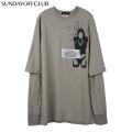 SUNDAY OFF CLUB 10 COMPLEX CROSSING THROUTS LS TEE サンデーオフクラブ SOC レイヤード 長袖 Tシャツ (2色展開)