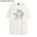 SUNDAY OFF CLUB X-RAY BEAR LUMINOUS SKELETONE SS TEE SOC 半袖 Tシャツ (2色展開)