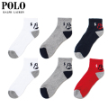 POLO RALPH LAUREN 6P SHORT SOCKS ソックス 靴下