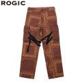 ROGIC PAISLEY BONDAGE PANTS BROWN ペイズリー パンツ