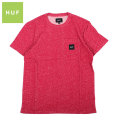 HUF_HEATHER BOX LOGO POCKET S/S TEE_ハフ 半袖 ポケット Tシャツ