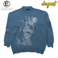A GOOD BAD INFLUENCE X DUGOUT OL' SWITCHED SLEEVE KNIT ニット セーター (2色展開)