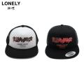 LONELY論理 X 実話ナックルズ LOGO TRACKER CAP ロンリー 論理 メッシュ キャップ 帽子 (2色展開)