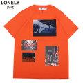 LONELY論理 X 実話ナックルズ NEMURANAI MACHI SS TEE ロンリー 論理 半袖 Tシャツ (3色展開)