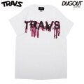 TRAVS BLOOD SS TEE DUGOUT LIMITED PINK トラビス ダグアウト 半袖 Tシャツ ポップアップ限定 (2色展開)