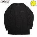 【10月下旬お届け予定】 DUGOUT X SMILEY FACE BLACK SMILEY LS TEE ダグアウト スマイリーフェイス ブラックスマイリー 長袖 Tシャツ