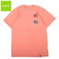 HUF CLUB HUF POCKET SS TEE ハフ 半袖 ポケット Tシャツ (2色展開)