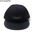 STAMPD X NEWERA LEATHER BRIM 6PANEL CAP スタンプド ニューエラ LA CAP スナップバック キャップ 帽子