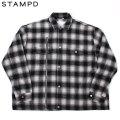 STAMPD ASHER FLANNEL SHIRT JACKET スタンプド LA フランネル チェック シャツ ジャケット