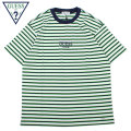 GUESS GREEN LABEL LIME BORDER SS TEE ゲス 緑ロゴ ボーダー 半袖 Tシャツ GGL SS19 (2色展開)