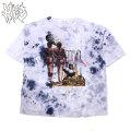 HBC JUST LEAVE ME ALONE SS TEE HYPER BEAM CAT ハイパービームキャット タイダイ 半袖 Tシャツ (2色展開)