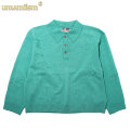 UMAMIISM EMBROIDERED KNITTED POLO SHIRTS ウマミズム ニット 長袖 ポロシャツ