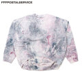 FFFPOSTALSERVICE LIQUID DYY ROUND HEM OVERSIZED CREWNECK タイダイ スウェットシャツ