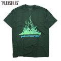 PLEASURES FLAMEBOY SS TEE プレジャーズ 半袖 Tシャツ (2色展開)