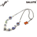 SALUTE X EVAE MOB CROSS FLOWER SMILEY NECKLACE サルーテ エバーモブ ネックレス