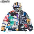 JOEGUSH GRAPHIC PATCHWORK WINDBREAKER ジャケット (2色展開)