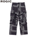 ROGIC PAISLEY PANTS RG202-004 BLACK X WHITE ロジック ペイズリー パンツ