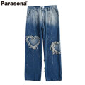 PARASONA HEART SPLASH PANTS パラソナ デニム パンツ