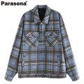 PARASONA VINTAGE PLAID CHECK JACKET パラソナ チェック シャツ ジャケット