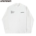 UNKNOWN RIBBED MOCKNECK LS TEE アンノウン モックネック 長袖 Tシャツ (2色展開)