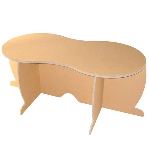 強化ダンボール製テーブル「ピーナッツ」