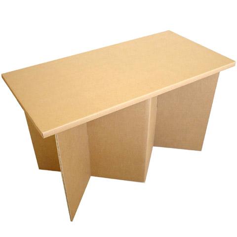 強化ダンボール製テーブル「クロス・ハイ」