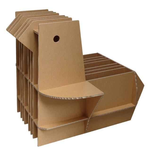 小鳥の形の本棚チェア「ブックバード」