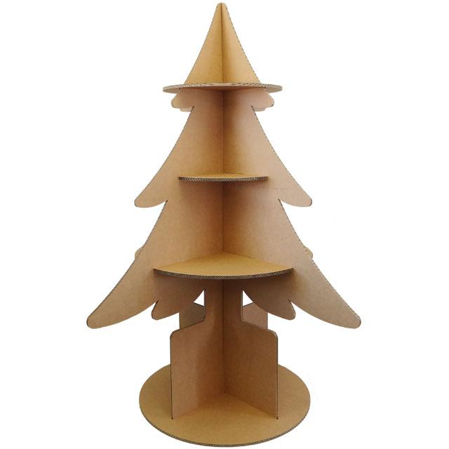 強化ダンボール製木型棚・ディスプレイ商品台「ツリー・ツリー(大)」