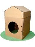 強化ダンボール製ダンボールハウス「ビスケッツ!」三角屋根セット
