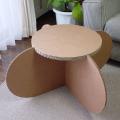 強化ダンボール製サイドテーブル&スツール「ファンファン」
